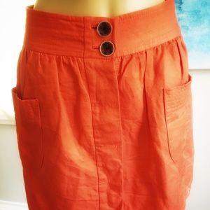 """J. Crew Skirts - 🌸J. Crew Orange Mini Skirt """"The Dorrie"""""""